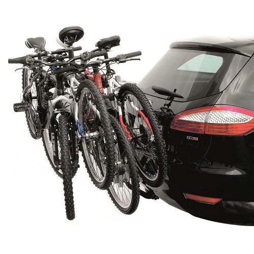 Вело багажник за колела Peruzzo Arezzo 667 за 4 велосипеда е здрав, сигурен, стабилен, масивен и лесен за използване с пълно заключване и сгъваем за теглич