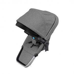 Допълнителна седалка за близнаци Thule Sleek Sibling Seat Grey Melange с която може да превърнете детската количка Thule Sleek в двойна количка за две деца