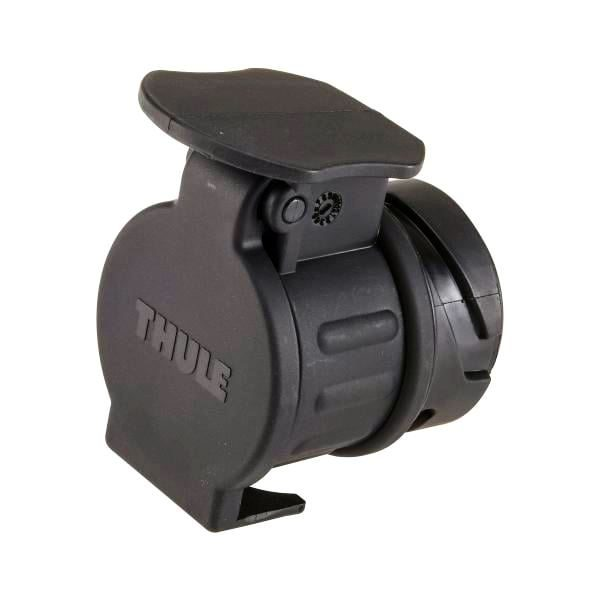 Адаптерът за буксата на теглич Thule Adapter 9907 преобразува 13-пинов електрически контакт на автомобила ви в 7-пинов.