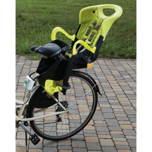 Детско Столче за колело Bellelli Tiger Relax Yellow Hi-Viz B-Fix Жълто с монтаж отзад на велосипеда на рамката със система за накланяне и уголемяване