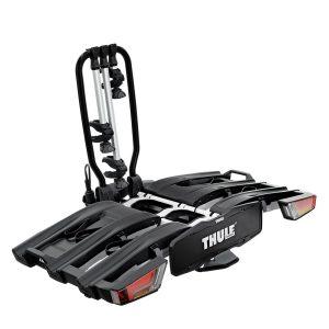 Вело багажникът за колела Thule EasyFold XT 3 е здрав, сигурен, стабилен, масивен и лесен за използване багажник за теглич с пълно заключване, сгъваем, компактен и удобен за пренасяне.