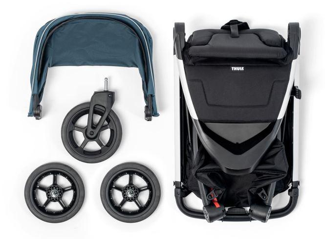 Комплект на детска Лятна Количка Thule Spring е супер стилна и модерна количка, Лесна и бърза за сгъване с една ръка, Лесна за съхранение, Лесна за маневриране на всякакви терени