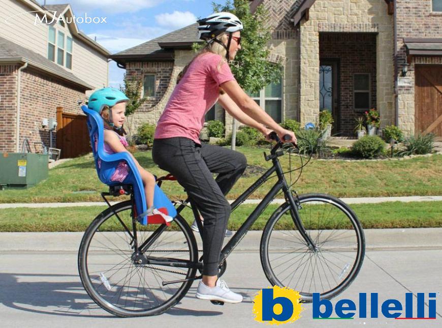 Детски столчета Bellelli - произведени в Италия за малки и големи деца с монтаж на колело отзад или отпред на кормило с лице напред
