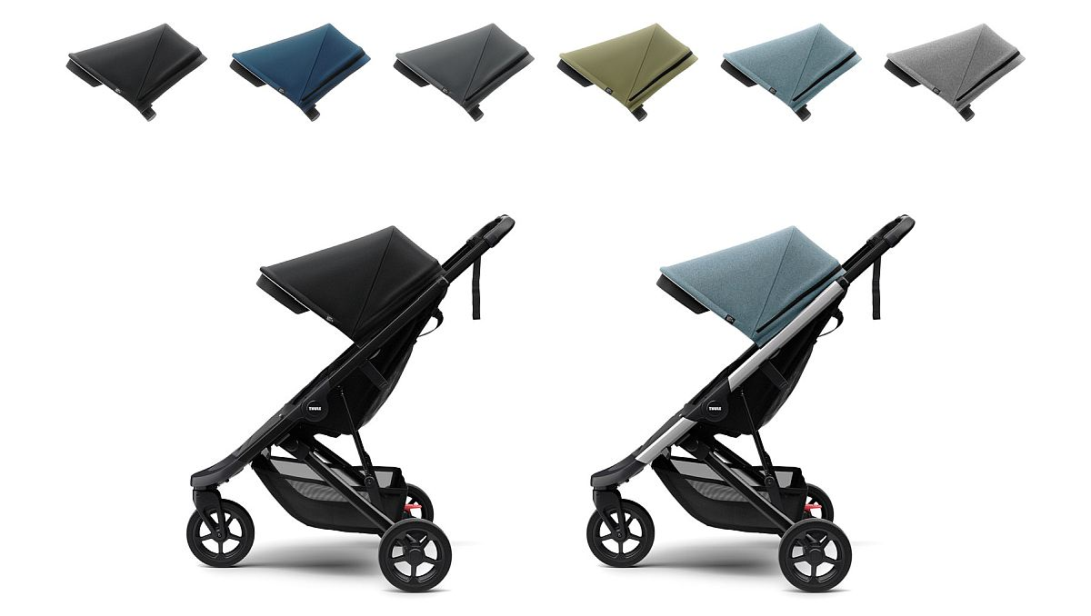 Цветови комбинации на детска количка Thule Spring - Детска Лятна Количка Thule Spring е супер стилна и модерна количка, Лесна и бърза за сгъване с една ръка, Лесна за съхранение, Лесна за маневриране на всякакви терени.