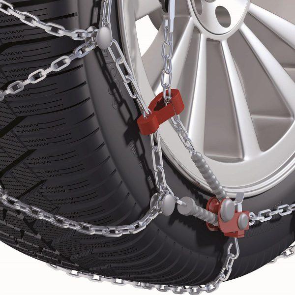 Система за най-добро опъване и монтаж на вериги за сняг Konig CD-9 изработени от висококачествена 9 мм метална верига и със система за защита на лети джанти