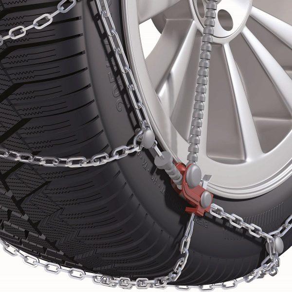 Вериги за сняг с автоматично затягане Konig CG-9 изработени от висококачествена 9 мм метална верига със система за защита на лети джанти и най-добро опъване и монтаж