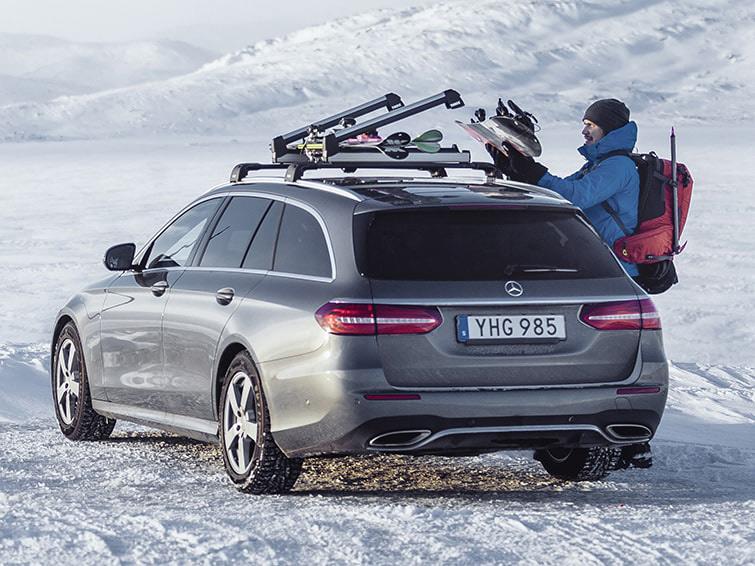 Ски багажник за сноуборд и багажници за ски, за покрив, магнитни, на напречни греди, с монтаж на задната врата, за превозване на вашите ски сноубордове