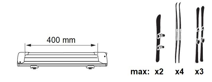 Универсален Багажник за Ски или Сноуборд Neumann Skimaster 400 за 4 чифта ски или 2 сноуборда