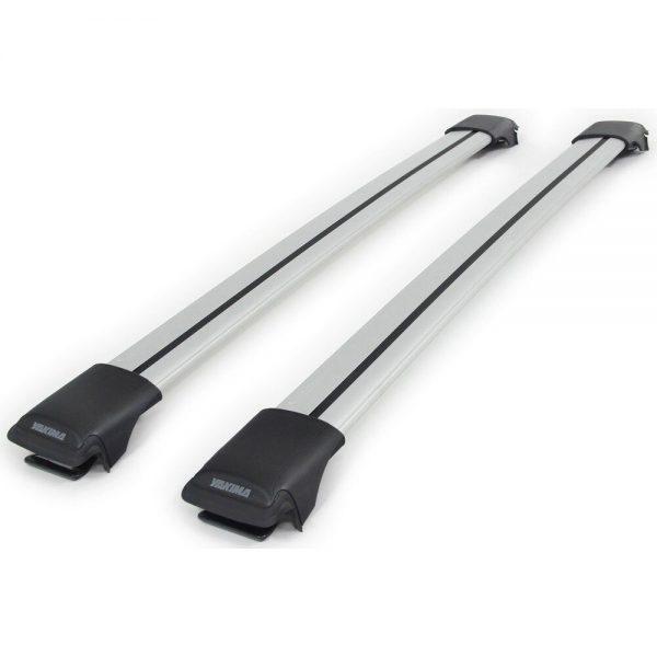Напречните греди Railbar на YAKIMA са скосени с много нисък профил, много тихи багажни греди с аеродинамичен профил от алуминий, стабилни, масивни и модерни, за багажник с монтаж чрез адаптери за канал.