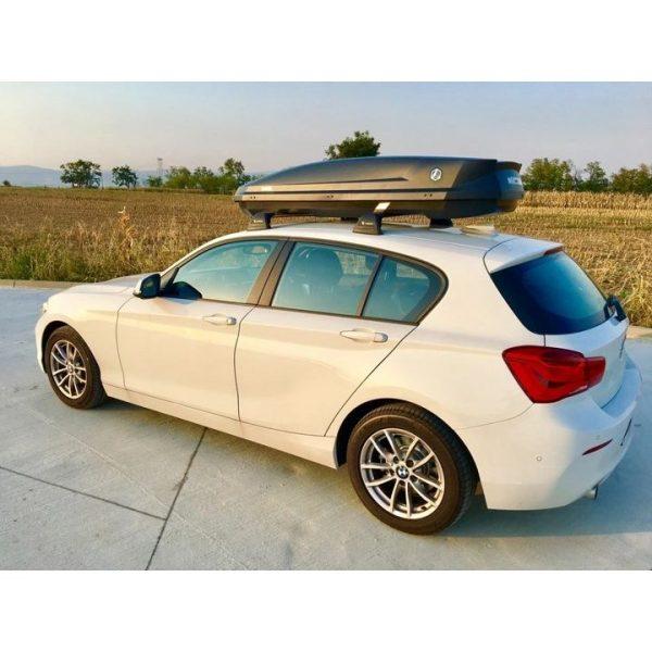 Багажник Автобокс Northline EcoSpace черен е тих луксозен красив и спортен багажник - кутия за ски багаж модерен дизайн голям обем перфектна аеродинамика