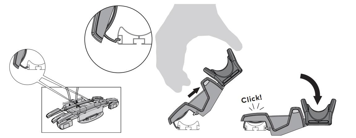 Адаптер Yakima JustClick+1 за Допълнително колело на Вело багажник за колела JustClick с монтаж на теглич