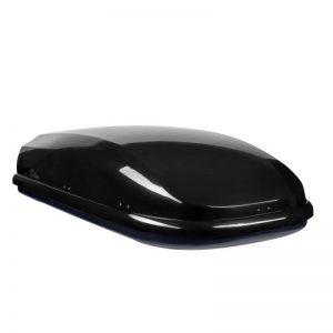 Автобокс Neumann S-Line Черен гланц с обем 350 литра. Тих, красив и аеродинамичен багажник, куфар за багаж за малка или голяма кола, комби, джип.