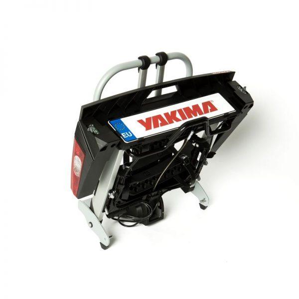 Вело багажник за колела Yakima FoldClick 2 е малък и здрав, сигурен и стабилен, масивен и лесен за използване сгъваем багажник за теглич със заключване, стойка, платформа за велосипеди
