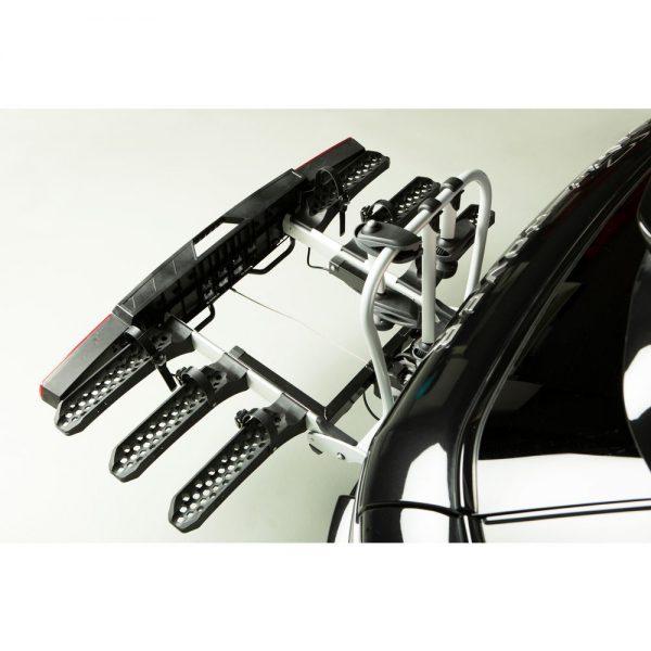 Вело багажник за колела Yakima FoldClick 3 е малък и здрав, сигурен и стабилен, масивен и лесен за използване сгъваем багажник за теглич със заключване, стойка, платформа за велосипеди