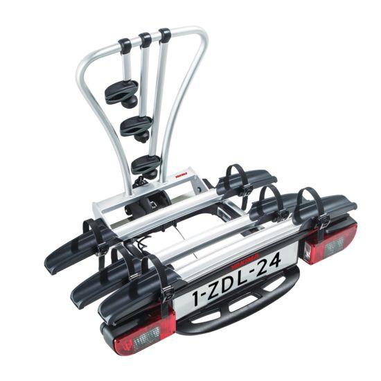 Вело багажник за колела Yakima JustClick 3 е малък и здрав, сигурен и стабилен, масивен и лесен за използване сгъваем багажник за теглич със заключване, стойка, платформа за велосипеди