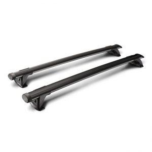 Напречните греди Yakima ThruBar black в черно са много тихи багажни греди с аеродинамичен профил от алуминий, стабилни, масивни и модерни, за багажник с монтаж чрез адаптери за канал.