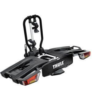 Вело багажник за колела Thule EasyFold XT 2 е здрава платформа, сигурен, стабилен, масивен и лесен за използване багажник за теглич със заключване, сгъваем малък