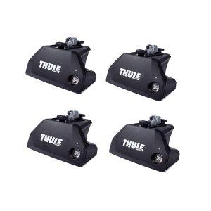 Захвати Thule Evo Flush Rail 7106 за напречни греди, комплект универсални апарати, нов модел за коли с интегрирани фабрични греди без просвет