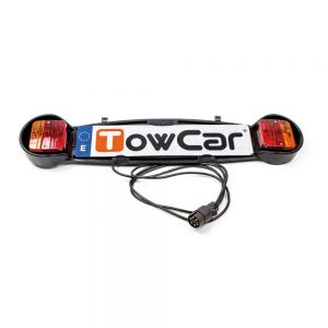 Панел за задни светлини на автомобил TowCar Light Board AVG0006 за вело багажници за колела, закриващи регистрационната табела и стоповете