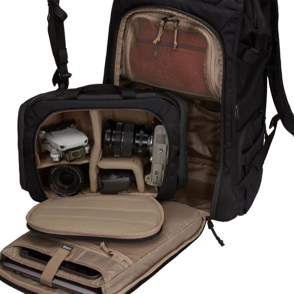 Раница за Фотоапарат Thule Covert DSLR Backpack 24L Черна 3 в 1 - чанта за фотоапарат или камера, раница за багаж или хибрид между двете, хубава за камера, дрон, за разходки в града, мек гръб, здрава