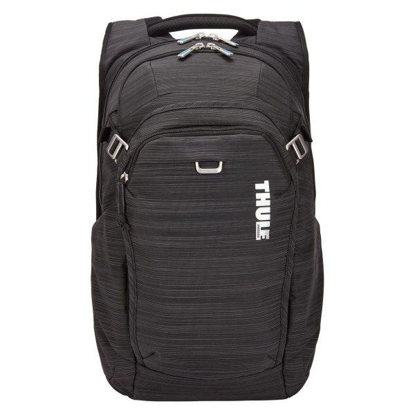 Ученическа Раница Thule Construct 24L Black Черна с подплатен джоб за лаптоп и таблет, хубава раница за училище или разходки в града, мек гръб, здрава