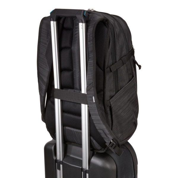 Ученическа Раница Thule Construct 28L Black Черна с подплатен джоб за лаптоп и таблет, хубава раница за училище или разходки в града, мек гръб, здрава
