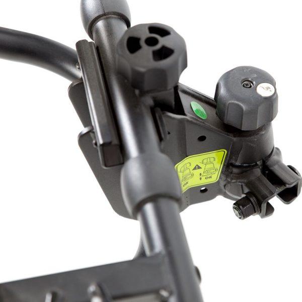 Вело багажник за две колела TowCar TR3 е здрава платформа, сигурен, стабилен, масивен и лесен за използване багажник за велосипеди с монтаж на теглич със заключване, накланяне